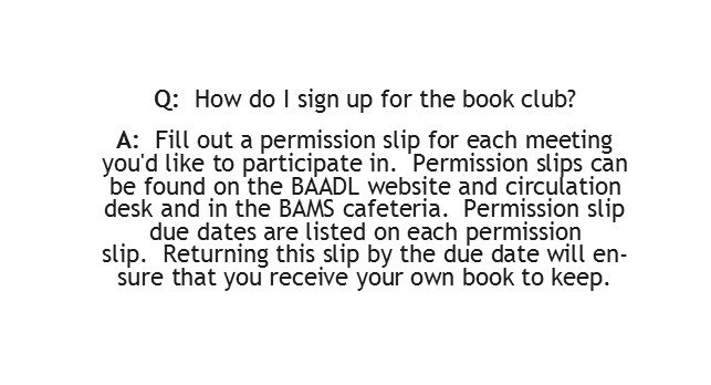 How do I sign up for the Book Club?