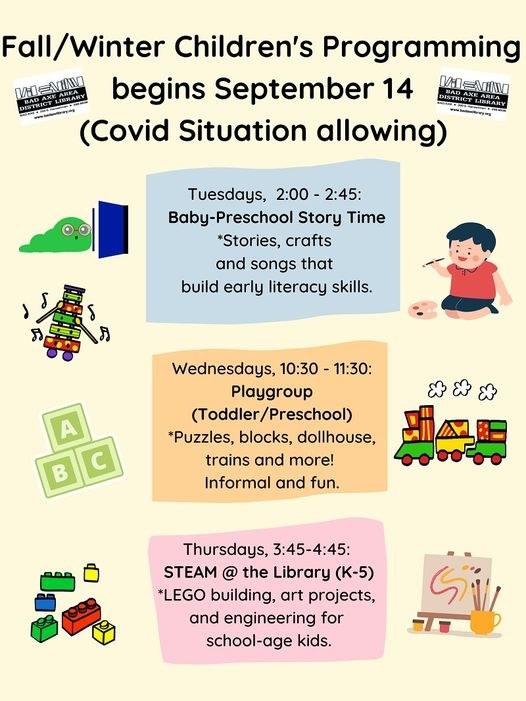 2021 Fall/Winter Children's Programs