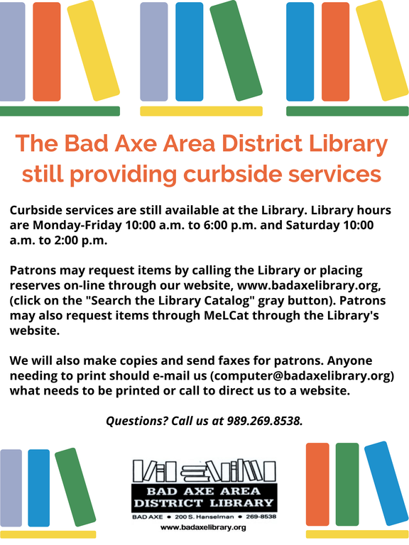 Curbside services still available!