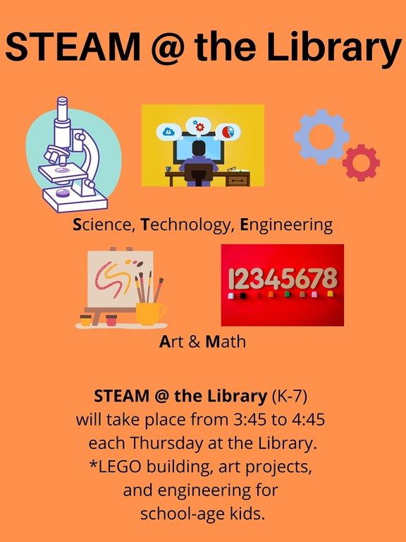 STEAM @ the Library (K-7)