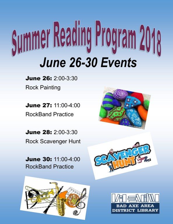 Summer Reading Program Events